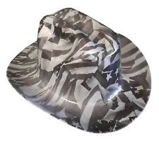 Hard Hat Kimberly Clark Outlaw Grey American Flags w/ Free BRB Customs T-Shirt