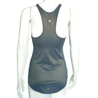 LULULEMON Shimmering Pearl Blue Gold Tank Top Womens size 4 gym run / 828
