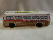 Vintage Tin Silver Eagle Continental Trailways Travel bus Made in Japan