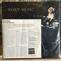 [ROCK/POP]~EXC LP~ROXY MUSIC~For Your Pleasure~{OG 1973~WARNER~PROMO INSERT]