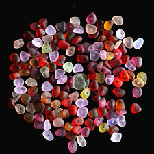 Center Drilled Sea Beach Glass 20 Pcs Lots Small Red Pink Yellow Jewelry Use