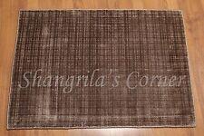 Accent Rug 2x3 Handmade Bamboo Silk Wool Multi-use Rug Brown Area Rug