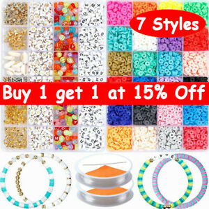 1 Set Polymer Clay Beads Spacer for DIY Bracelets Jewelry Making Finding VM UK