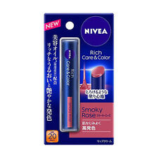 [NIVEA] RICH CARE & COLOR Tinted Moisturizing Lip Balm SPF20 (SMOKY ROSE) JAPAN