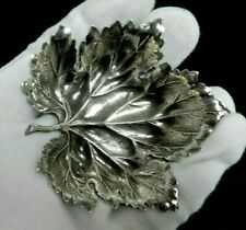 "Buccellati Sterling Silver 925 Vine Leaf Small Dish 3"" Gianmaria Buccellati"