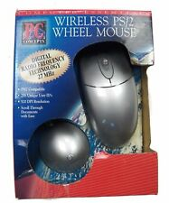 PC Concepts PS/2 Wheel Wireless Wheel Mouse Digital Radio Frequency Tech 27 MHz