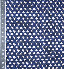 "Cotton Fabric - Western Denim & Dirt Blank Stars on Dark Blue - Last 17"""