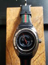 Gucci YA137113 137.1Mens 46mm Black/Green/Red Mens Watch - Retail 590$