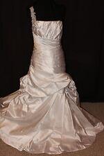 "NWT Size 16 white Maggie Sottero Couture ""Fiorella"" one shoulder bridal gown"
