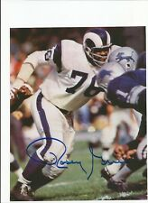 LA Rams Rosey Grier Autographed Photo w/ COA Fearsome Foursome