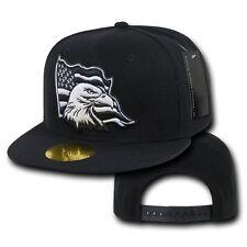 Black United States American Flag Bald Eagle USA America Baseball Ball Cap Hat