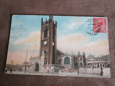 1919 fr postcard -  Manchester Cathedral
