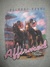 """BELMONT PARK 1978 TRIPLE CROWN CHAMPION """"AFFIRMED"""" (LG) T-Shirt STEVE CAUTHEN"""