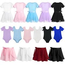Kids Girls Ballet Dance Dress Leotard+Skirt Outfit Gymnastics Training Costume