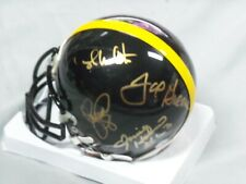 Pittsburgh Steelers, Steel Curtain (4), Signed Black, Steelers, Mini Helmet