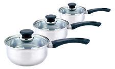 Sabichi 3pc Stainless Steel Saucepan Set 2 Year Garantee