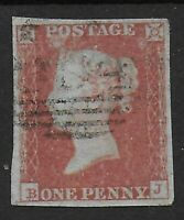 SG9. 1d.Pale Red-Brown-Worn Plate. Fine Used. 4 Good Margins. Cat.£40. Ref.0/89