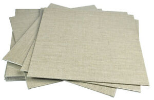 Pebeo Natural Brown Linen Canvas Board for Oil & Acrylic Painting 30cm Square