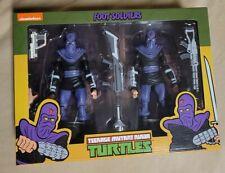 """NECA Teenage Mutant Ninja Turtles Cartoon 7"""" Foot Soldiers 2 pack, NIB, & HTF,"""