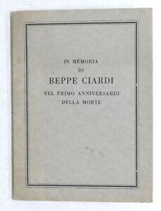 In memoria di Beppe Ciardi nel primo anniversario della morte - 1^ ed. 1933