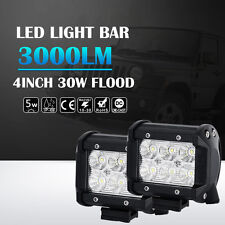 2X 4inch 30W Philips inondation LED Light Bar Off Road Reverse phares 4X4WD