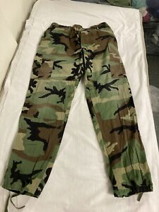Mens Casual Workwear Camouflage Camo Woodland Army Combat Trousers:LARGE/SMALL