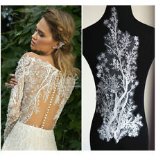 Big Bridal Lace Applique Embroidery Motif Trims DIY Applique for Wedding Dress