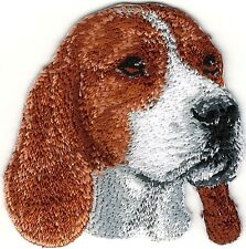 "2"" x 2"" Beagle Head Portrait Dog Breed Embroidery atch"