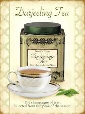 EARLGREY,BREAKFAST TEA STEEL WALL PLAQUE QUALITY METAL RETRO SIGN KITCH TIN GIFT