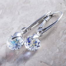 925 Sterling Silver Dangle Earrings *Briolette* AB Crystals from Swarovski®