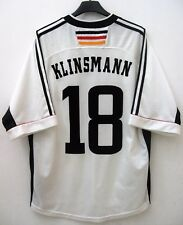 #18 KLINSMANN DEUTSCHLAND GERMANY TRIKOT JERSEY MAGLIA GERMANIA WC 1998 SZ L