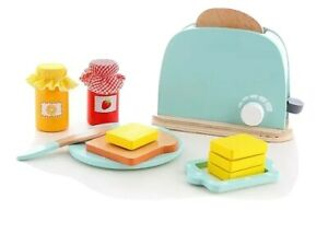 Wooden Kitchen ToySet 10Pcs PopUp Toaster for Kids Play early education bounding