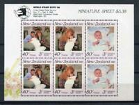 34847) New Zealand 1989 MNH Stamp Expo , Sobreimpresión S/S