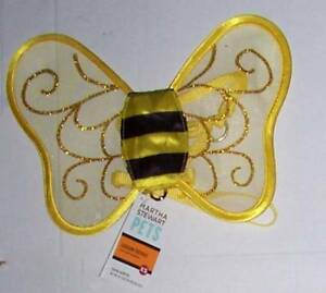 Martha Stewart Pets Bee Costume Strap Harness XS Halloween Removable wings