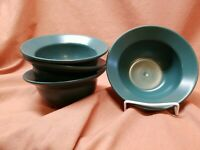 """Set of 4 Waechtersbach Hunter Green Large  rimmed  bowl Approx 7"""""""
