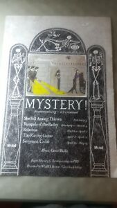 Edward Gorey MYSTERY! poster PBS w/ host Gene Shalit for WGBH Boston. New