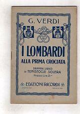 giuseppe verdi - i lombardi alla prima crociata  edizioni ricordi - raro n-.ross
