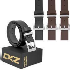 """Cinturón de cuero (100% Genuino Negro/Marrón) de 30"""" a 72"""" tamaño de la cintura"""