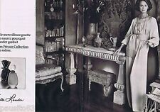 PUBLICITE ADVERTISING 095 1977 Estée Lauder parfum Private Collection (2 pages)