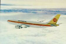 C0727mdt Transport Continental Airlines Airbus A300 Aircraft postcard