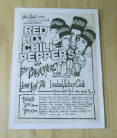 RED HOT CHILI PEPPERS : LONDON VICTORY CLUB 1986 : A4 GLOSSY REPRODUCTION POSTER