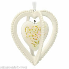 Hallmark 2015 Our First Christmas Together Porcelain Heart Ornament