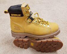 "Caterpillar 6"" Second Shift Steel Toe Honey Work Boots US 10.5 Wide"