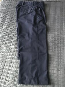FootJoy FJ Golf Men's Performance Navy Blue Flat Front Pants Size 33 x 29