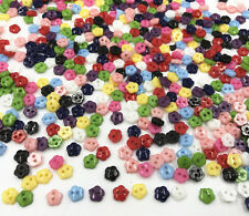 100X Mixed Colors Flowers Mini Resin Buttons 2 holes sewing scrapbooking crafts
