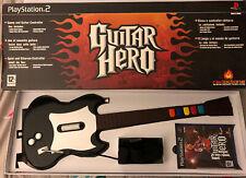 Original Guitar Hero Set With Guitar (Sony PS2, 2005) - European Version