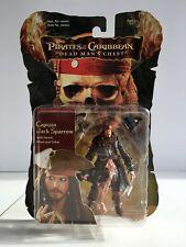 """Pirates of Caribbean POTC Dead Man's Chest Captain Jack Sparrow 3.75"""" Figure NEW"""