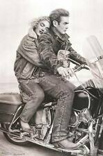 Marilyn Monroe and James Dean on a Harley Poster Print, 24x36