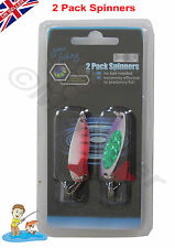 2 Pack Spinner Set Fishing Spinners Tackle Lure Soft Treble Fish Effective