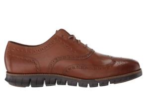 Cole Haan Men's Zerogrand Wing OX Oxford, British tan Leather/Java, 11 M US
